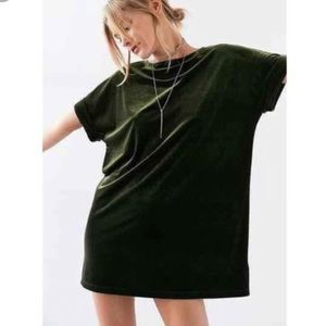 Urban Outfitters Velvet T-Shirt Dress by Ecote